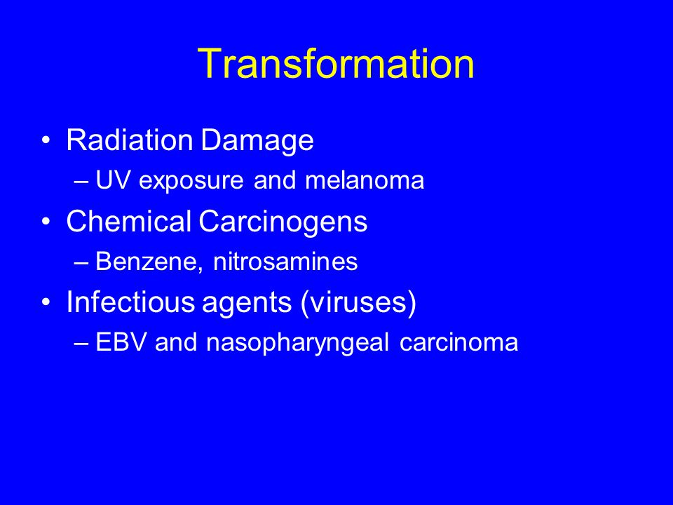 Transformation Radiation Damage Chemical Carcinogens