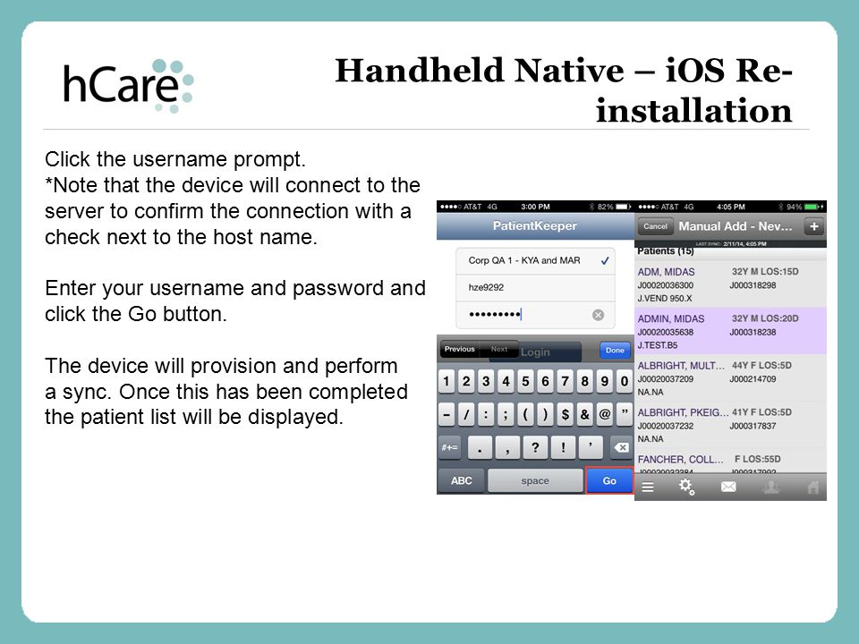 Handheld Native – iOS Re-installation