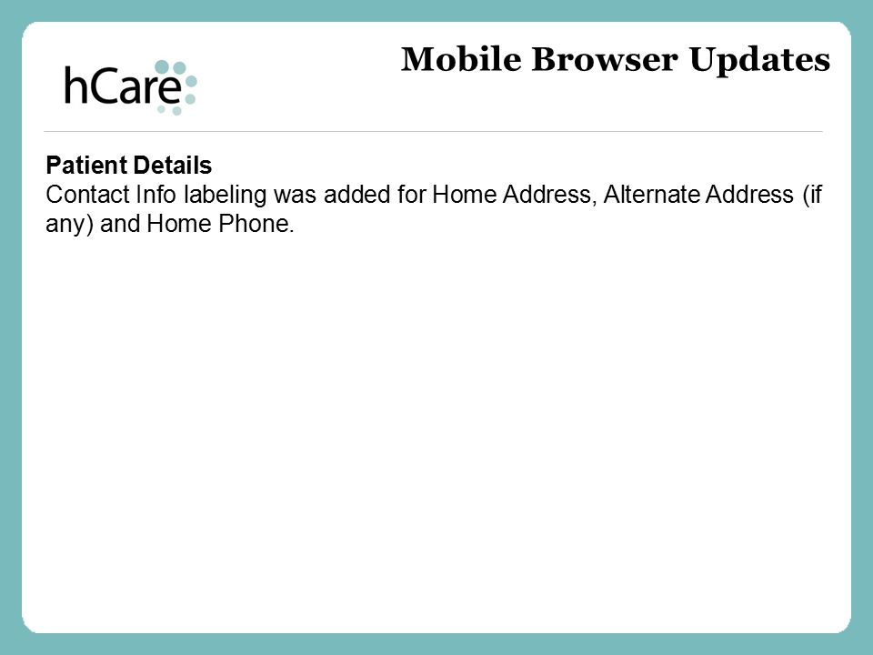Mobile Browser Updates