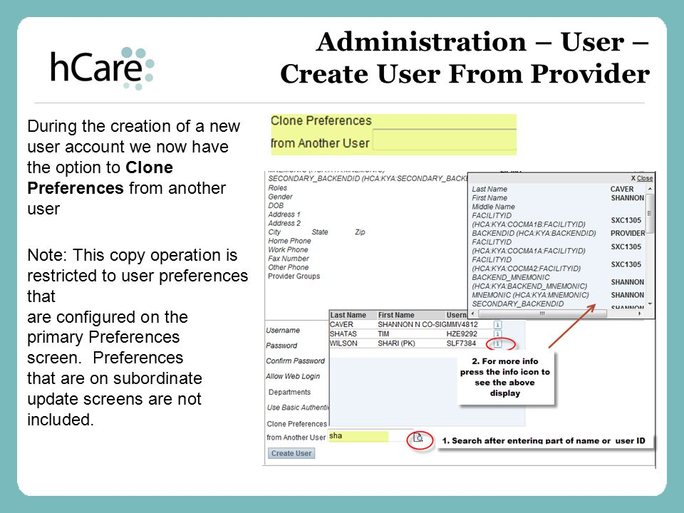 Administration – User – Create User From Provider