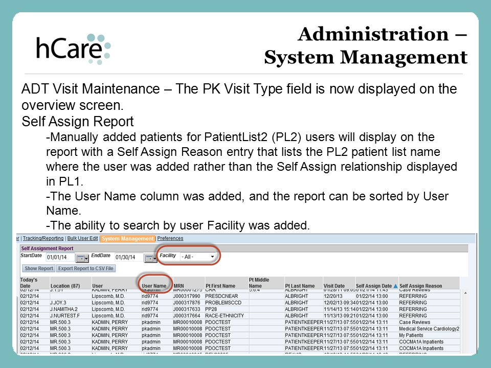 Administration – System Management