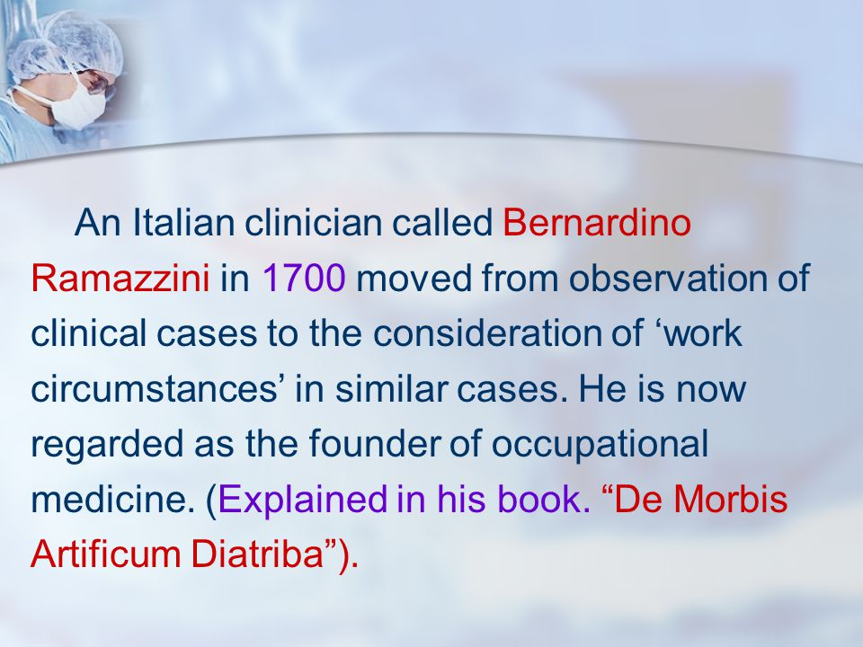 An Italian clinician called Bernardino