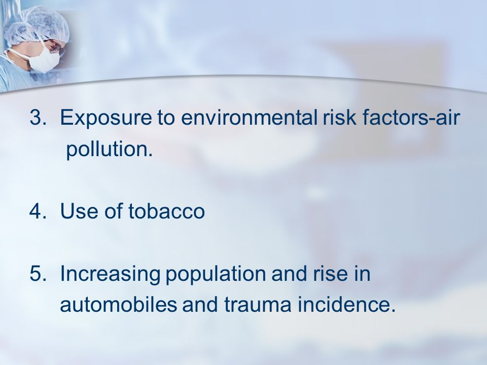 3. Exposure to environmental risk factors-air
