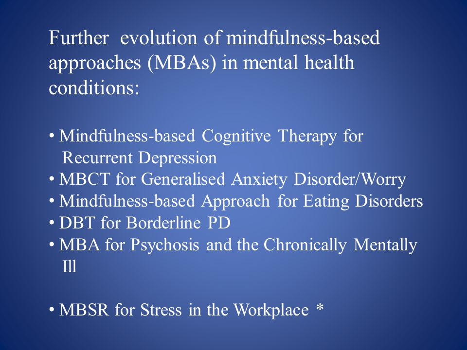 mindfulness based cognitive therapy for generalized anxiety disorder pdf
