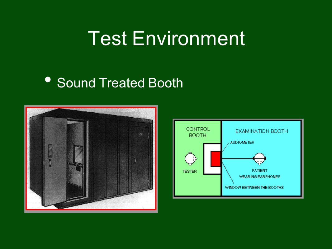 Test Environment Sound Treated Booth