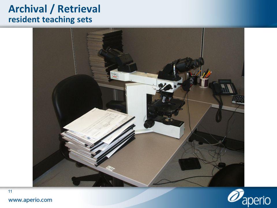 Archival / Retrieval resident teaching sets