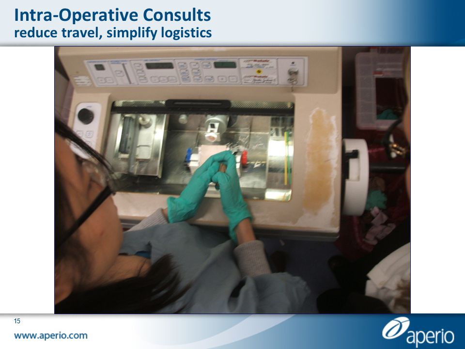 Intra-Operative Consults reduce travel, simplify logistics
