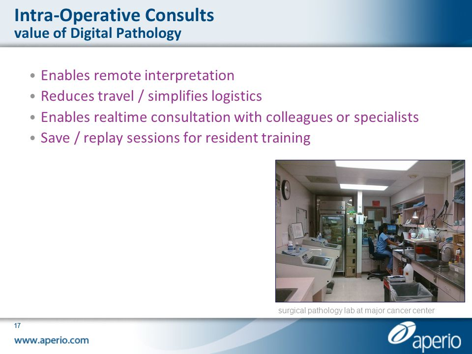Intra-Operative Consults value of Digital Pathology