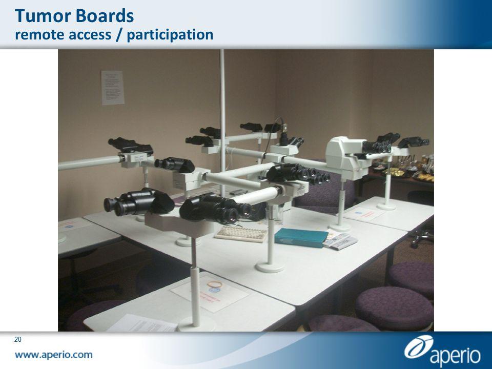 Tumor Boards remote access / participation