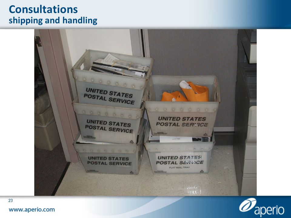 Consultations shipping and handling
