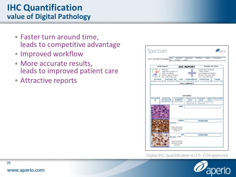 IHC Quantification value of Digital Pathology