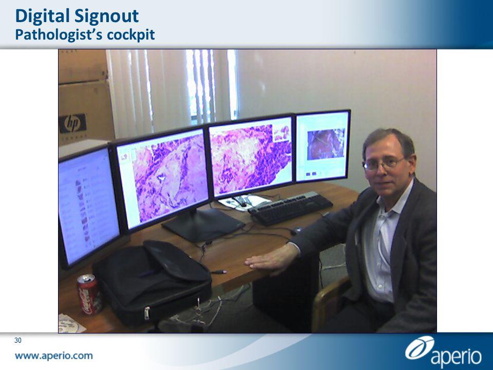 Digital Signout Pathologist's cockpit