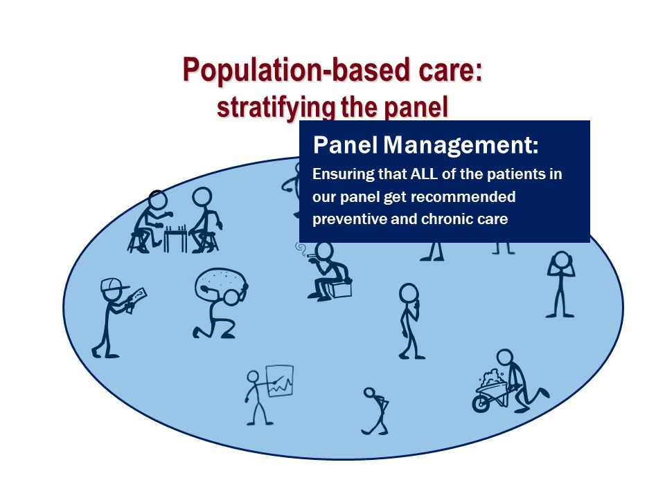 Population-based care: stratifying the panel