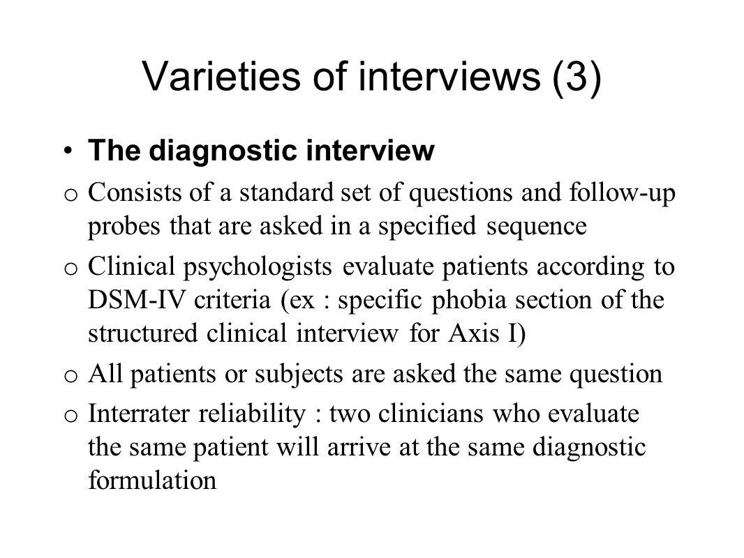 Varieties of interviews (3)