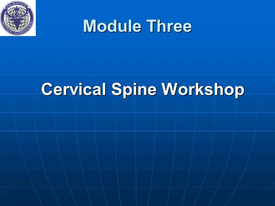 Cervical Spine Workshop