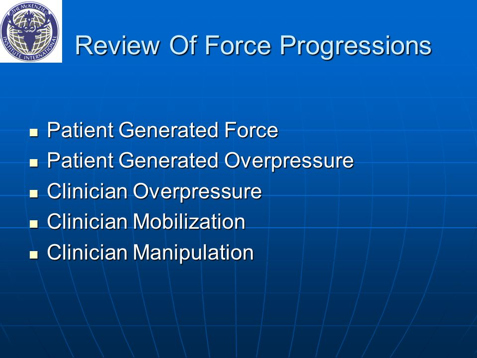 Review Of Force Progressions