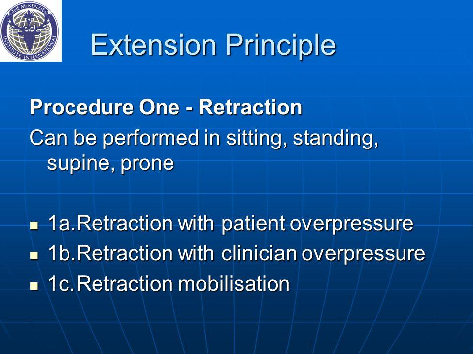 Extension Principle Procedure One - Retraction