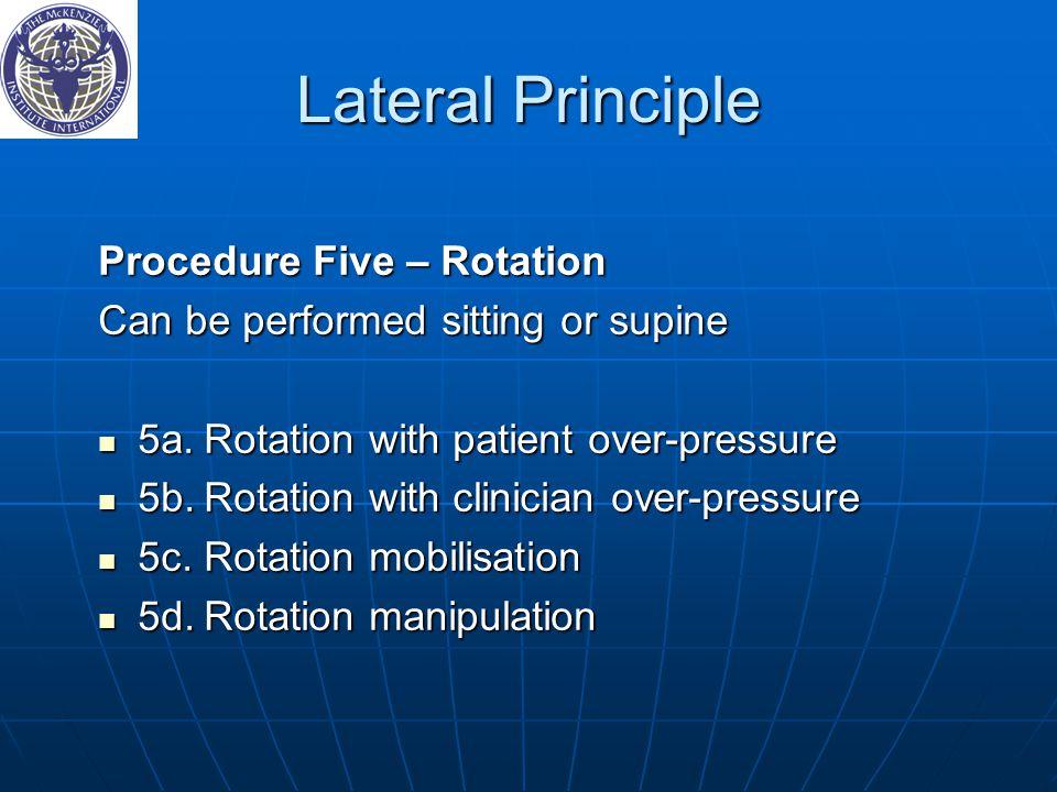 Lateral Principle Procedure Five – Rotation
