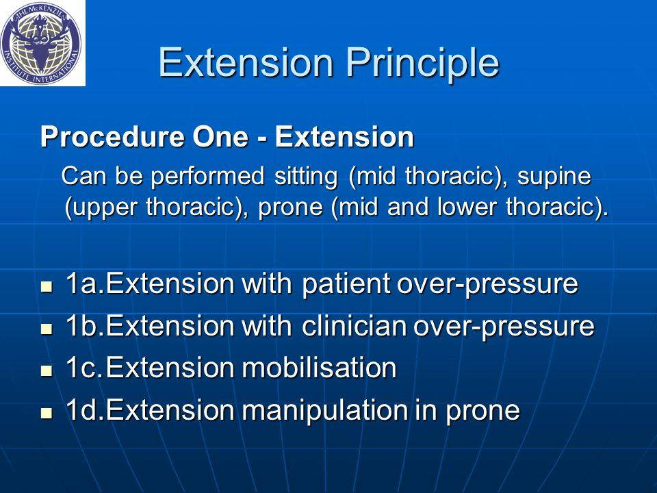 Extension Principle Procedure One ‑ Extension