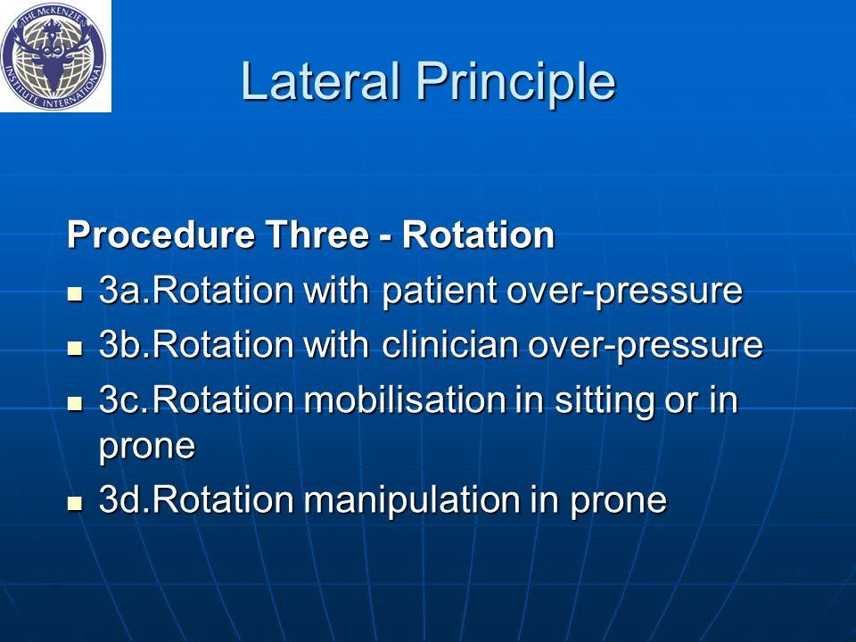 Lateral Principle Procedure Three ‑ Rotation