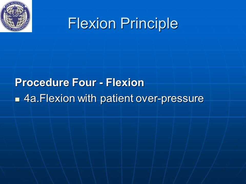 Flexion Principle Procedure Four ‑ Flexion