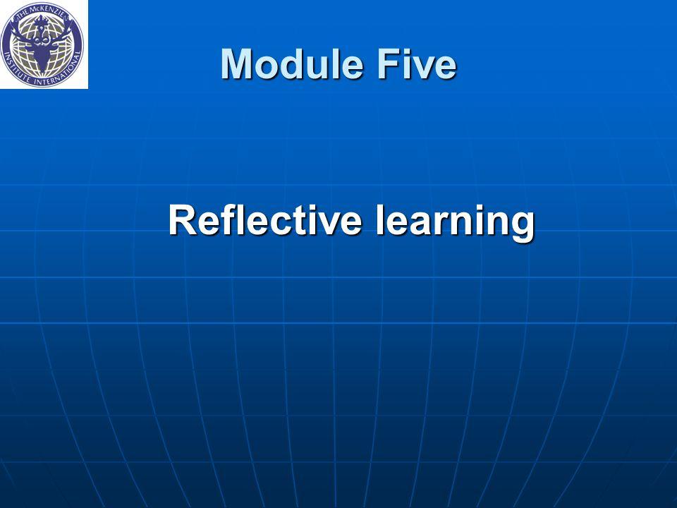 Module Five Reflective learning