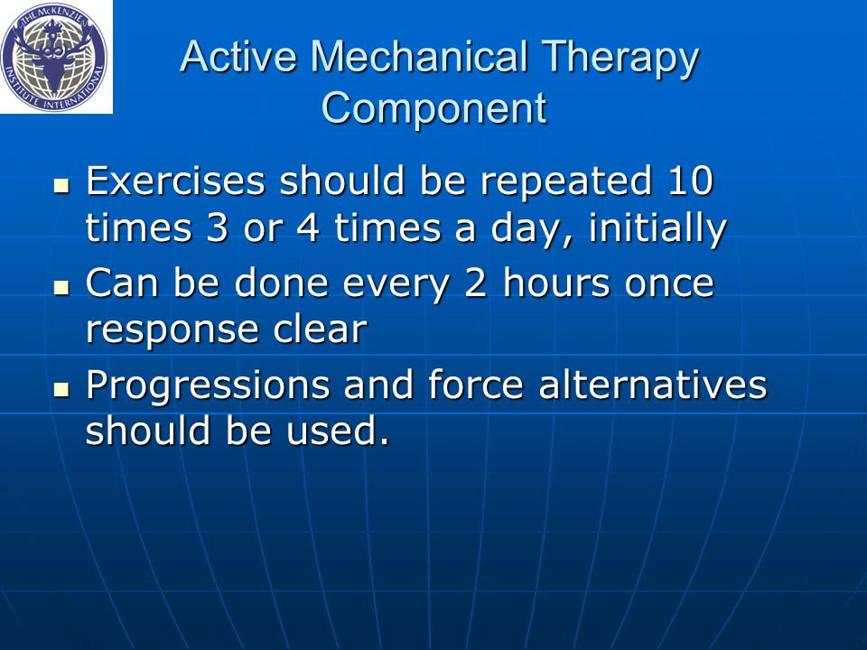 Active Mechanical Therapy Component