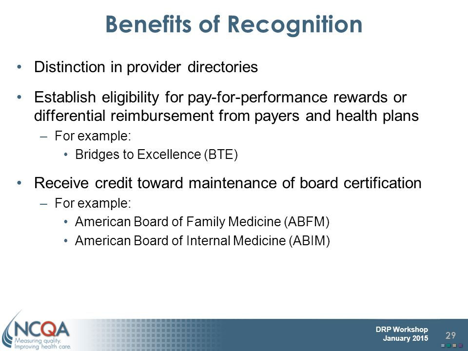 Benefits of Recognition