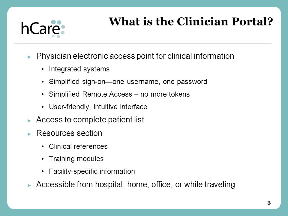 What is the Clinician Portal