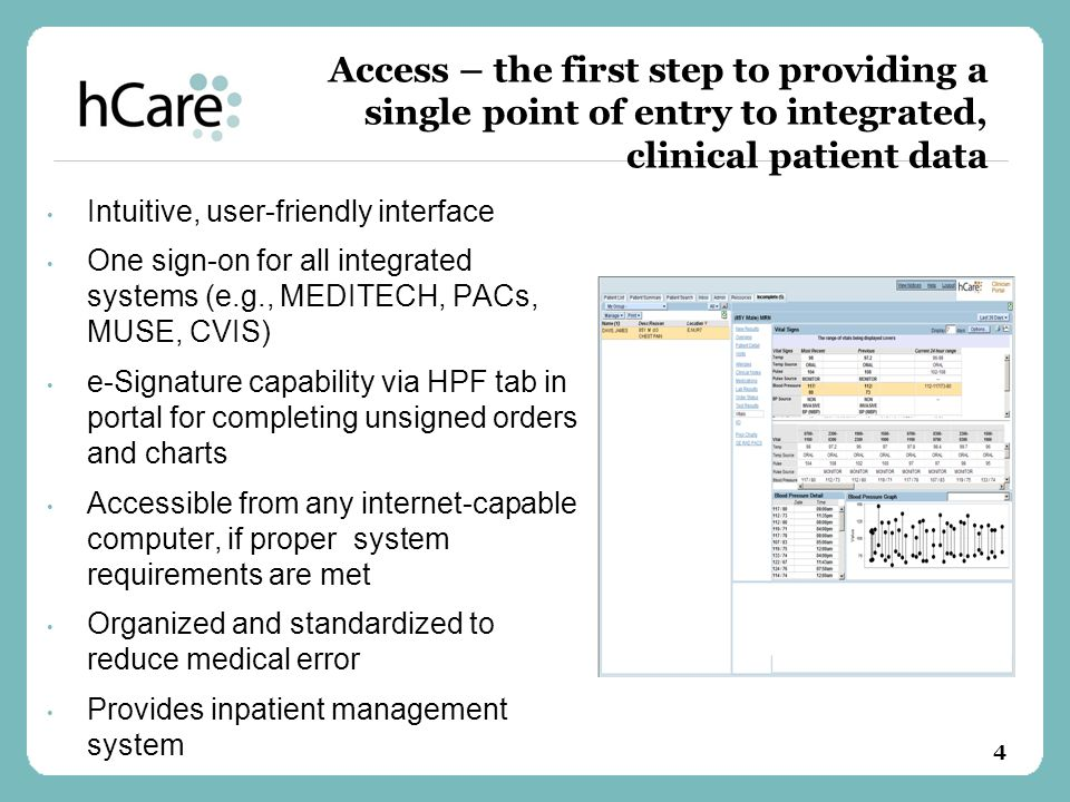 Access – the first step to providing a single point of entry to integrated, clinical patient data