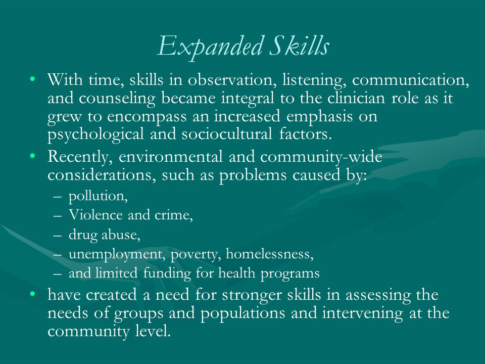 Expanded Skills