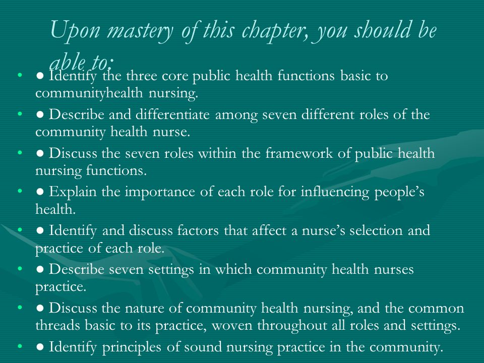 Upon mastery of this chapter, you should be able to: