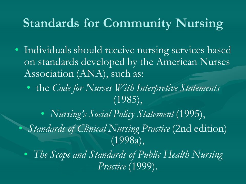 Standards for Community Nursing