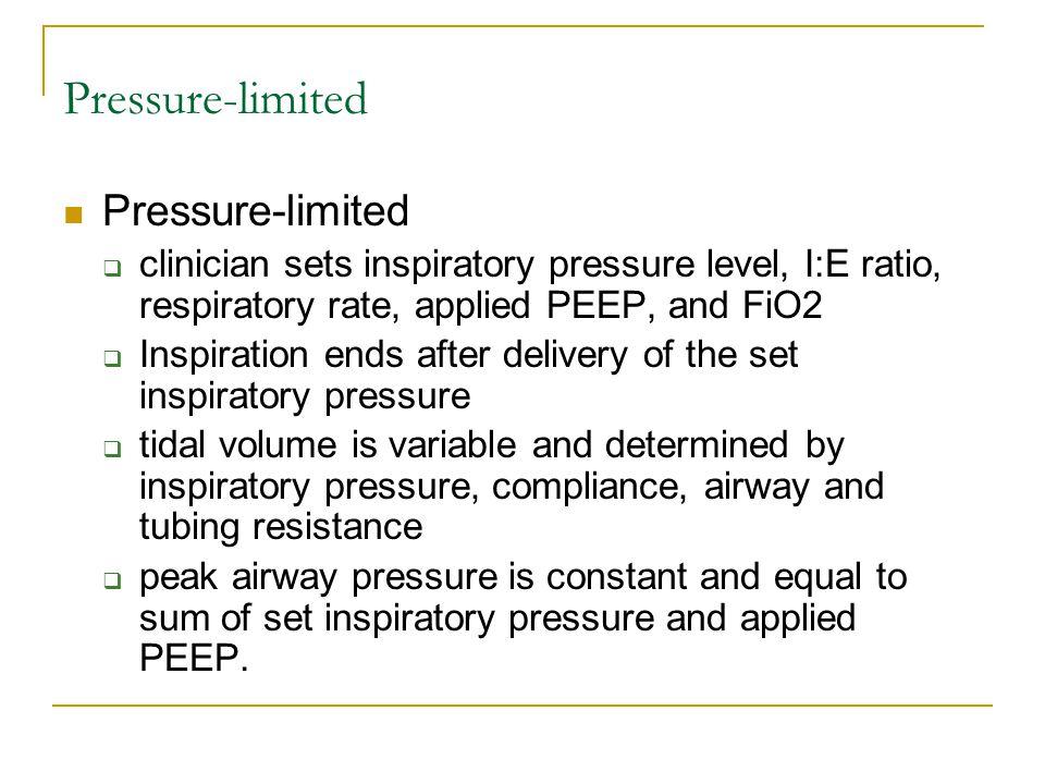 Pressure-limited Pressure-limited