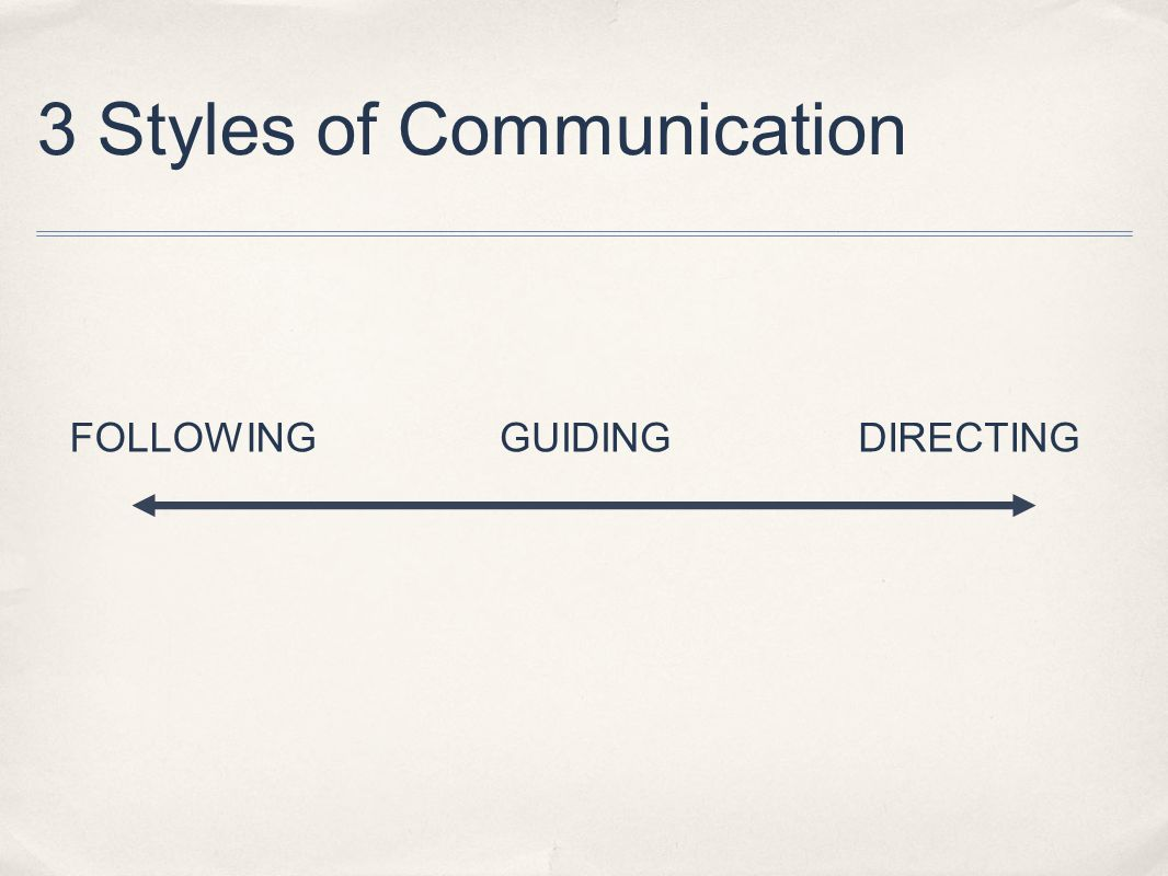 3 Styles of Communication