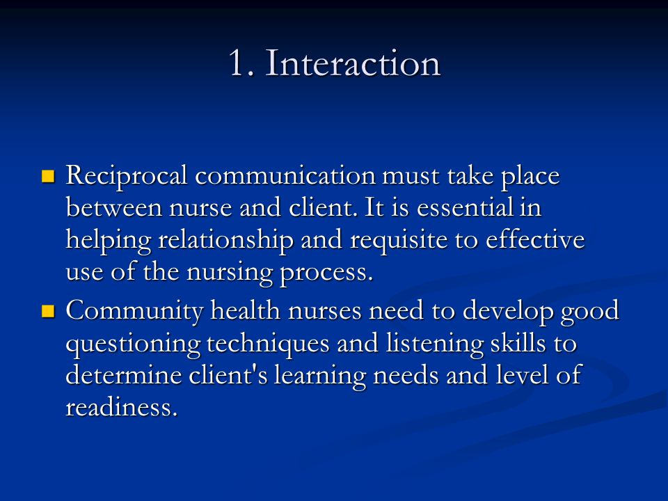 1. Interaction