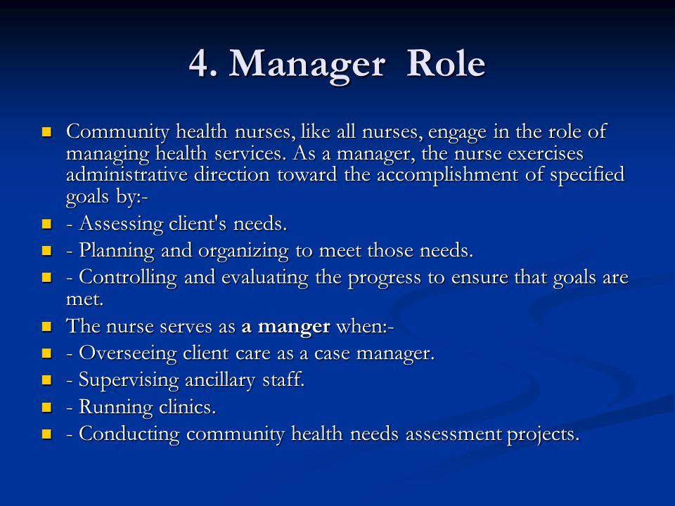 4. Manager Role