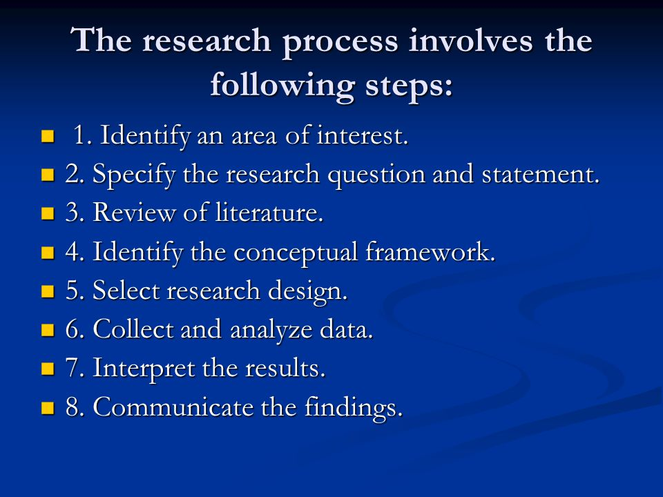 The research process involves the following steps:
