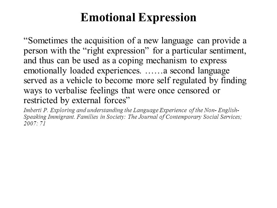 Emotional Expression