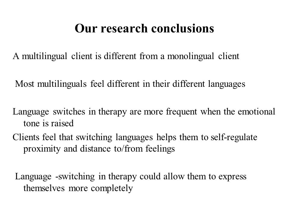 Our research conclusions