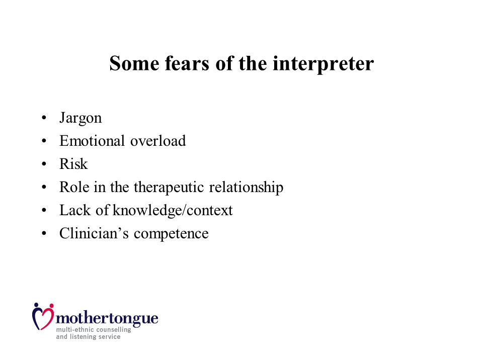 Some fears of the interpreter