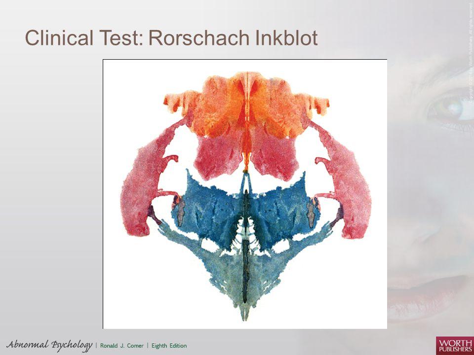 Clinical Test: Rorschach Inkblot