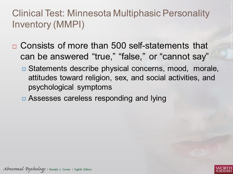 Clinical Test: Minnesota Multiphasic Personality Inventory (MMPI)