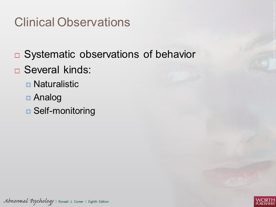 Clinical Observations