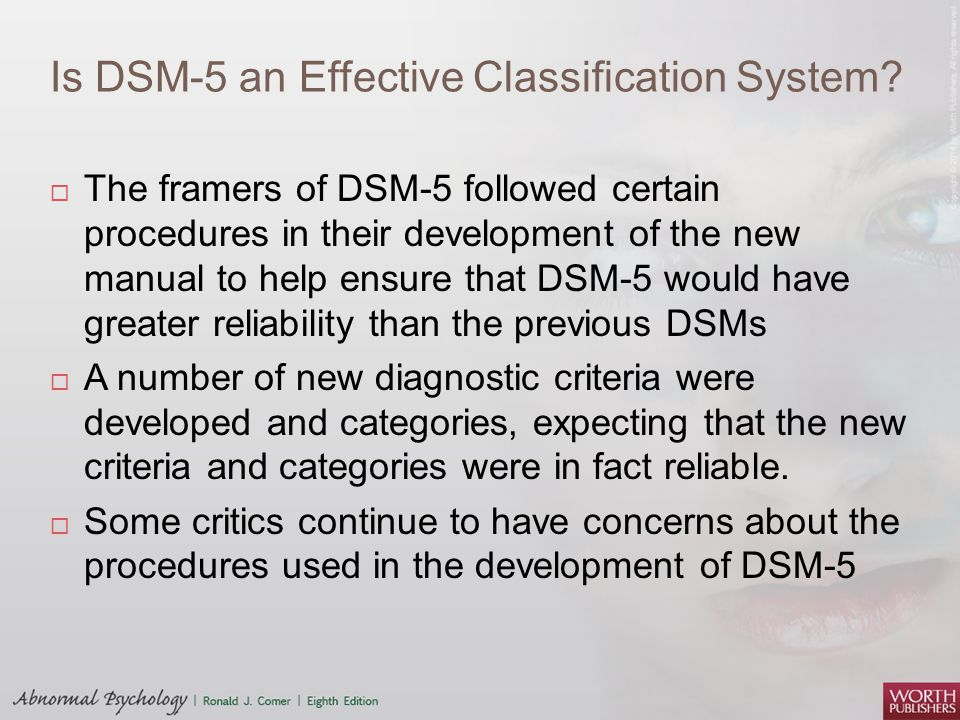 Is DSM-5 an Effective Classification System