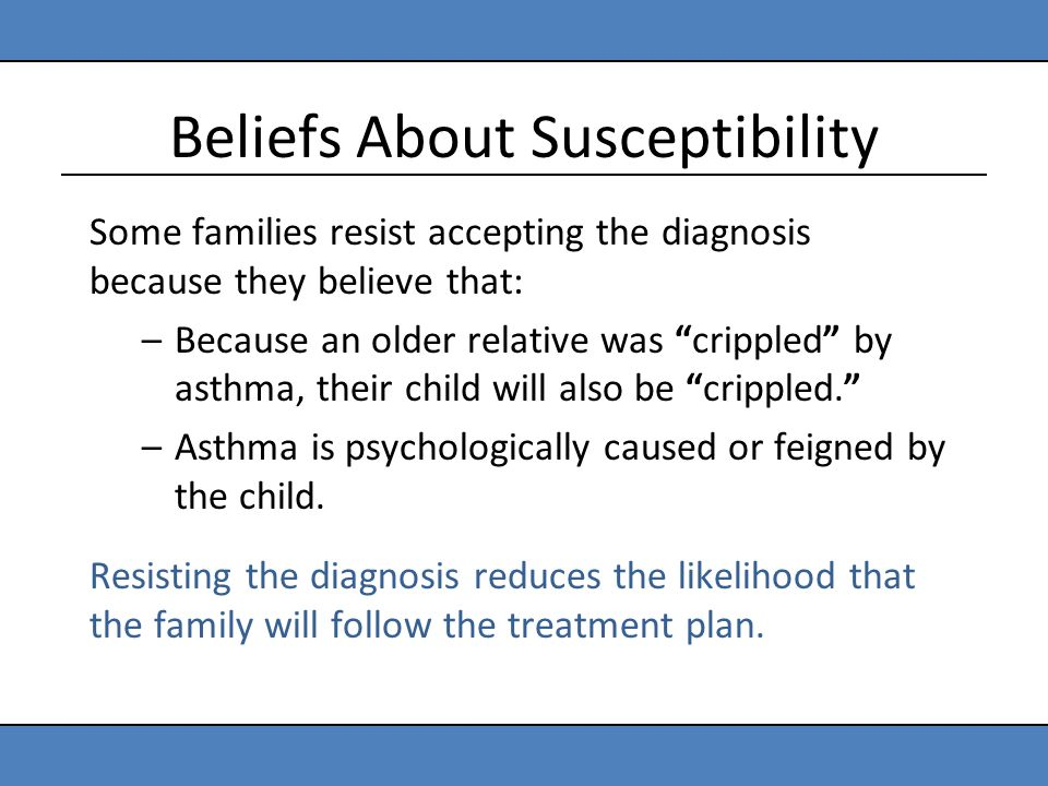 Beliefs About Susceptibility