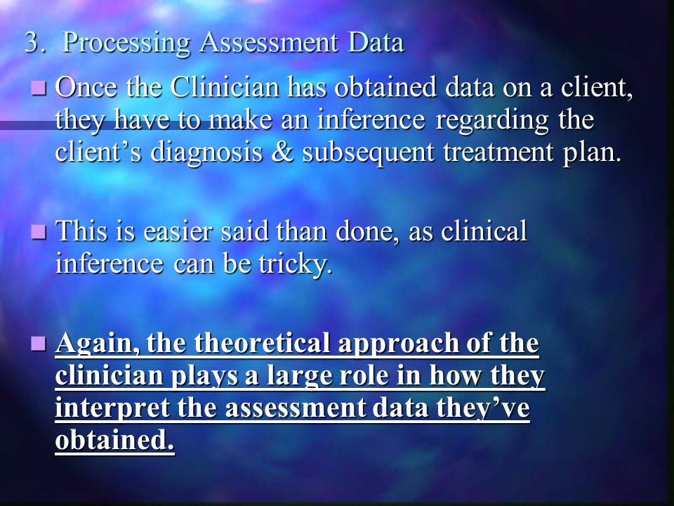 3. Processing Assessment Data