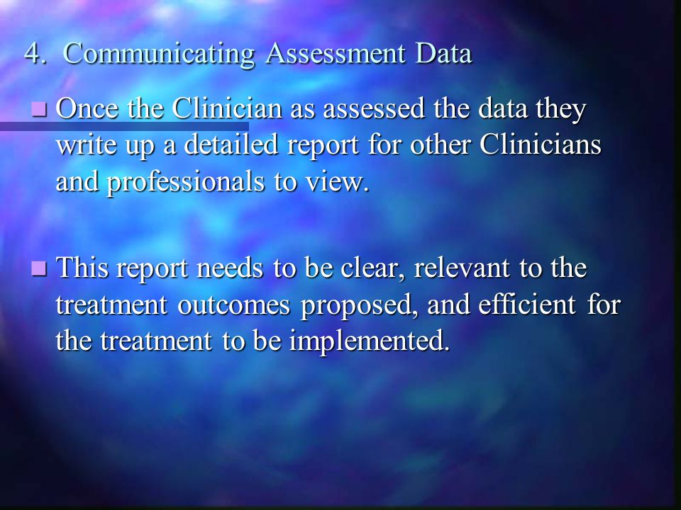 4. Communicating Assessment Data