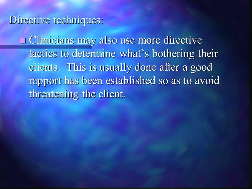 Directive techniques: