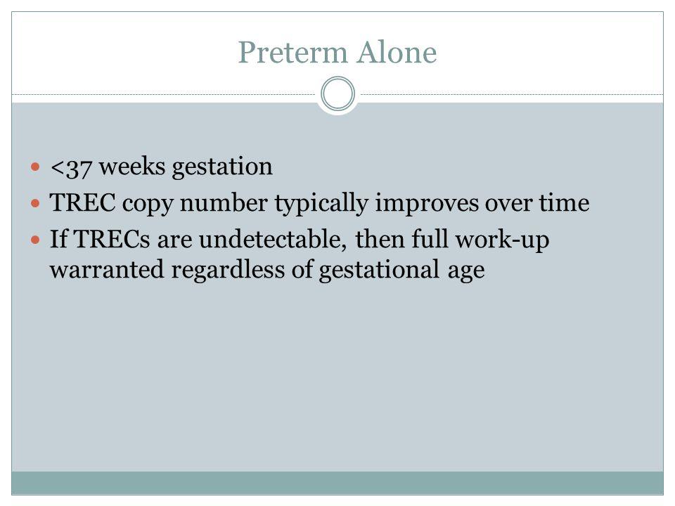 Preterm Alone <37 weeks gestation